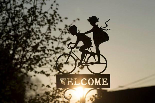 Fahrradverkehr Willkommen